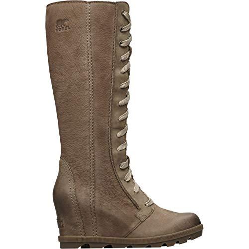 (Sorel Women's Joan of Arctic¿ Wedge II Tall Ash Brown Full Grain Leather/Nubuck Combo 12 B US)