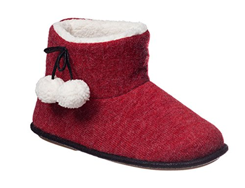 Hanes Womens Alba Indoor/Outdoor Bootie Slippers