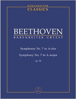 ベートーヴェン: 交響曲 第7番 イ長調 Op.92/ベーレンライター社/デル・マール編/中型スコア