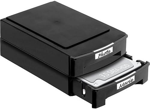 DeLOCK 2 x Cajas para discos duros 3.5 apilable, 61970: Amazon.es: Oficina y papelería