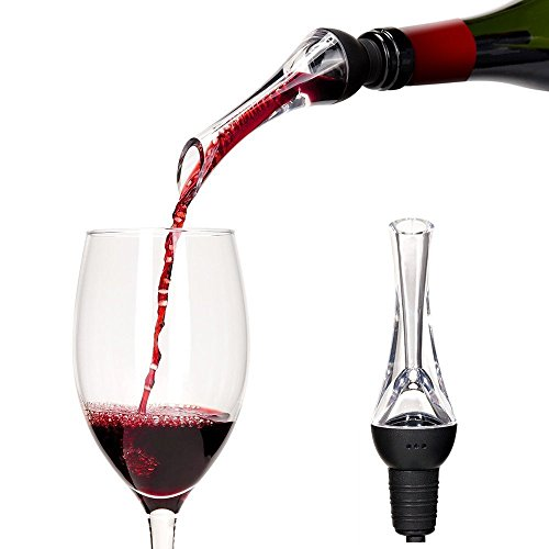 Wine Aerator - MOKALE Premium Wine Decanter Pourer and Crystal Breather Excellent for Whiskey, Red Wine - Deluxe Bar Equipment, Best Wine Dispenser, Spout Gift Set for Men and Women