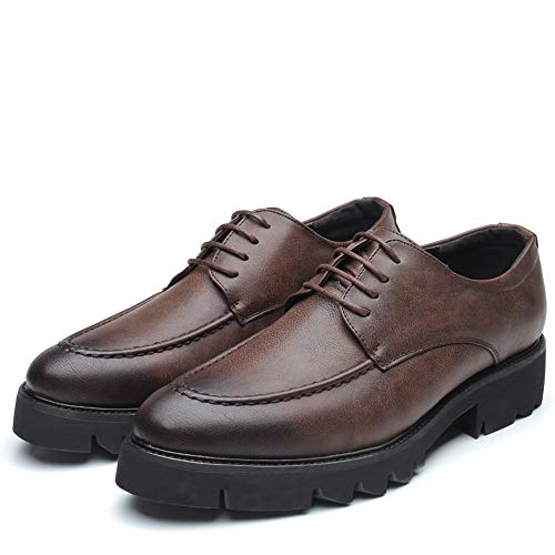 shoes Moda Oxford Grigio Da Eu 2018 Fondo Con Xujw Alla Dimensione Scarpe color Casual 41 Marrone Arrotondato Stringate Uomo Basse wz1Fqg