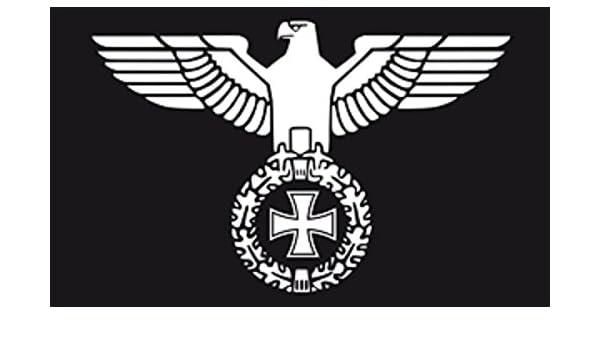 U24 – Bandera de Alemania, Águila imperial, 90 x 150 cm: Amazon.es: Jardín