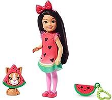 Barbie Chelsea Disfraz de Sandía, Muñeca Morena con Accesorios y Mascota (Mattel Ghv71) , color/modelo surtido