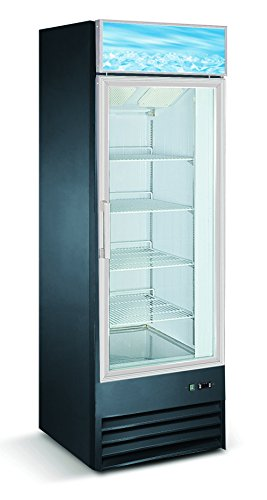 Glass Top Freezer - Single Door Upright Retail Merchandiser Display Freezer with Triple Paned Glass Door - D368BMF