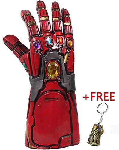 Avengers 4 Endgame Iron Man Infinity Gauntlet Hulk Thanos Captain America Thor Cosplay (A Red Iron Man -