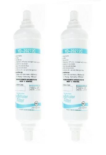 First4Spares EF9603 WSF100 Water Filter Cartridge For Samsung American Style Fridges & Freezers Pack of 2