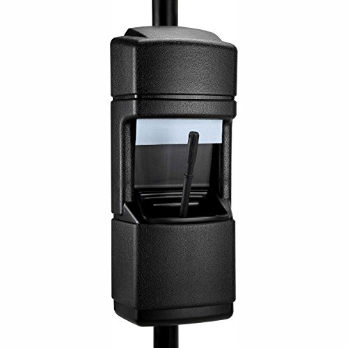 (Commercial Zone 2 Gallon Cove Windshield Service Center, Pole-Mounted, Black)
