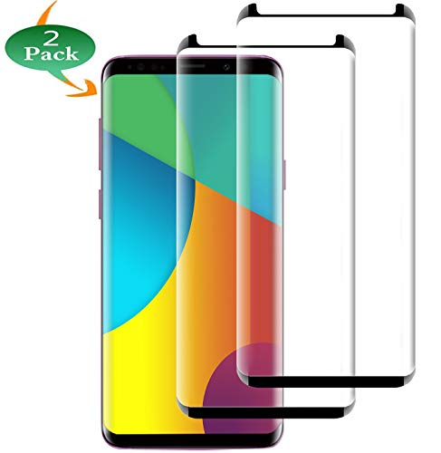[2 Pack] Galaxy S9 Plus Screen Protector, S9 Plus Tempered Glass [9H Hardness][Anti-Fingerprint][Ultra-Clear][Bubble Free] Tempered Glass Screen Protector Compatible with Samsung Galaxy S9 Plus (6.2)