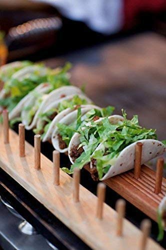 (Wood Taco Holders - Holds From 2 to 15)