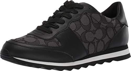Coach Women's Low Top Black/Smoke 8.5 M US (Black Men Shoes Coach)