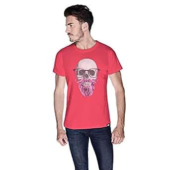 Creo Pink Beard Skull Simon T-Shirt For Men - M, Pink