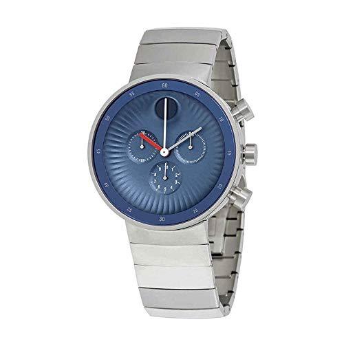 - Movado Edge Blue Aluminum Dial Swiss Quartz Chronograph Mens Watch 3680010