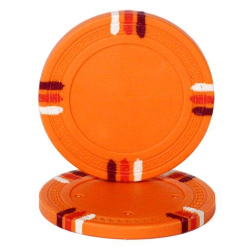 Brybelly Holdings CPBL12-Orange-25 Roll of 25 - Orange Blank Claysmith 12 Stripe Poker Chip - 1 by Brybelly