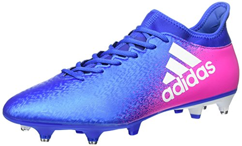 adidas X 16.3 Sg, Zapatillas de Fútbol para Hombre Azul (Blue/ftw White/shopin)