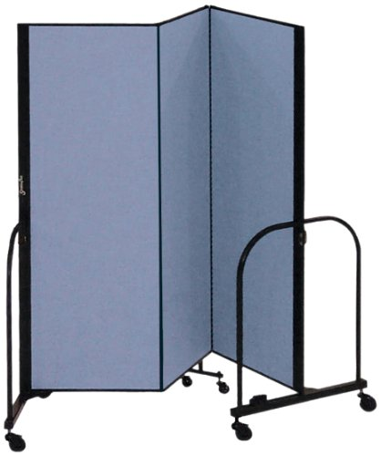Screenflex CFSL403-DB Commercial Portable Room Divider, 3 (Screenflex Portable Room Partition Dividers)