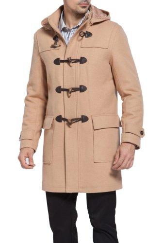 BGSD Men's Benjamin Wool Blend Classic Duffle Coat (Regular and Big & Tall
