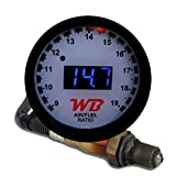 APSX D2 Digital Wideband O2 Air Fuel Ratio Controller All-in-One 2 1/16'' (52mm) Gauge - White Faceplate (Blue)