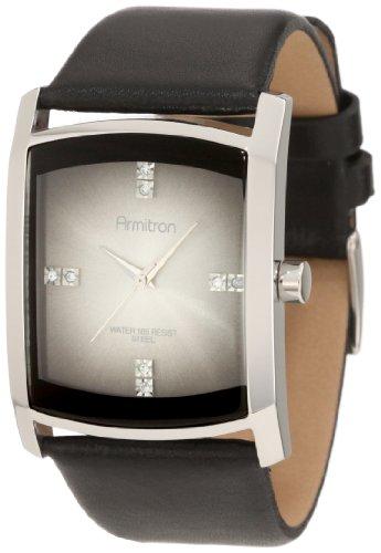 - Armitron Men's 204604DGSVBK Swarovski Crystal Accented Dress Watch