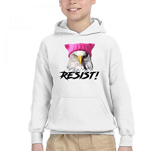 Price comparison product image Child Resist - Bald Eagle Wearing Pink Knitted Pussy Hat Contrast Color Hoodie Sweatshirt Pocket