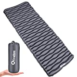 Exqline Inflatable Sleeping Pad, Ultra-Compact Camping Sleeping Pad Ultralight Sleeping Mat for Backpacking Hiking Camping Traveling