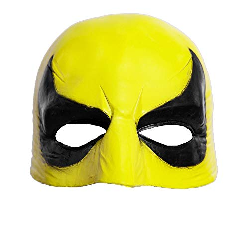 Iron Fist Mask Costume Accessory Halloween Cosplay Latex Adult Yellow Mask