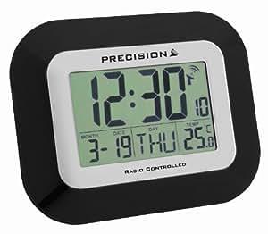 Precision PREC0097 - Reloj despertador (radiocontrol, pantalla LCD, se puede colgar de la pared)