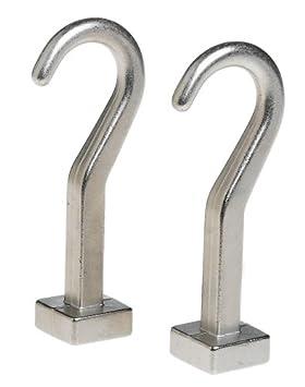 J.K. Adams PR-HK-02 Pot Hooks, Set of 2, Silver