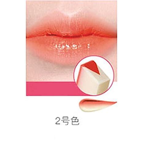 Fashionwu New Fashion Gradient Color Matt Lipstick Pencils, Women Beauty Makeup Fruit Smell Two-tone Tint Lip Bar