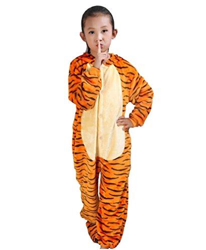 Unisex-Children Animal Cartoon Cosplay Kigurumi Tigger Onesie (Tigger Costume Child)