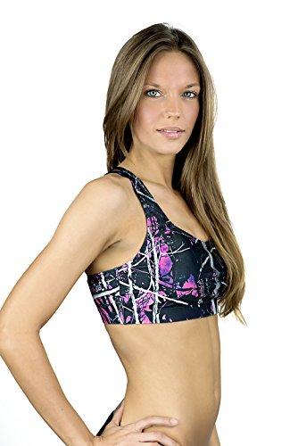 Muddy Girl Camo Women's Swimwear Sport Top, Muddy Girl, ()