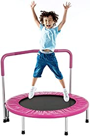 Mini Trampoline for Kids, 36inchs Kids Trampoline with Handle Safty Padded Cover Toddler Rebounder Fitness Tra