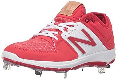 New Balance Men's L3000V3 Baseball Shoe, Red/White, 11.5 D US