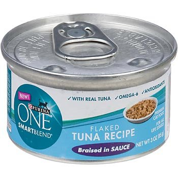 Purina ONE Smart Blend Flaked Tuna Braised in Sauce Canned Cat Food, My Pet Supplies