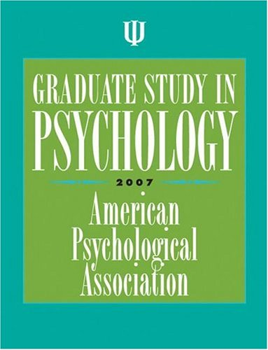 Graduate Study in Psychology 2007