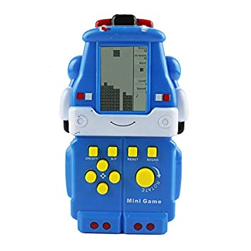 ACHICOO Cute Cartoon Shape MI/NI RETR/o Tetris Game Console for Kids Toy [Blue Poli]