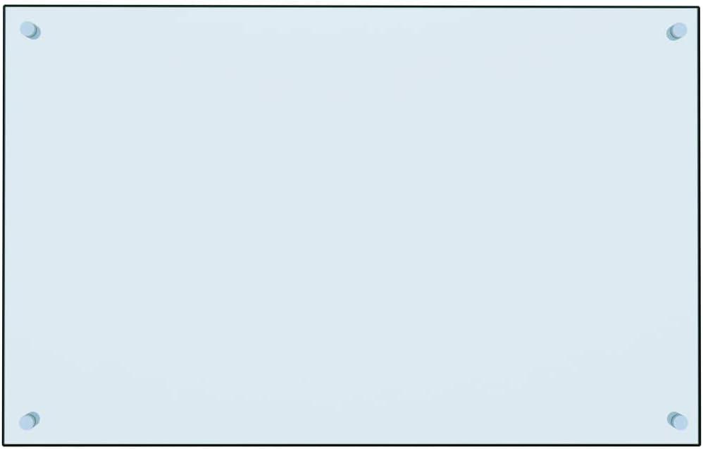 Blanco, 70x50cm UnfadeMemory Pantalla Anti Salpicaduras para Cocina de Pared,Protector Salpicaduras,Decoraci/ón de Cocina,Resistente al Calor,Resistente a los Ara/ñazos,Vidrio Templado