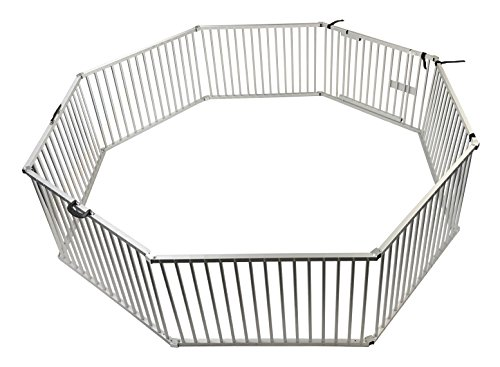 Penn Plax Portable Dog Fence, Exercise Pen Great for Travel, Picnics, and Beach, 8 Piece Aluminum Set by Penn Plax