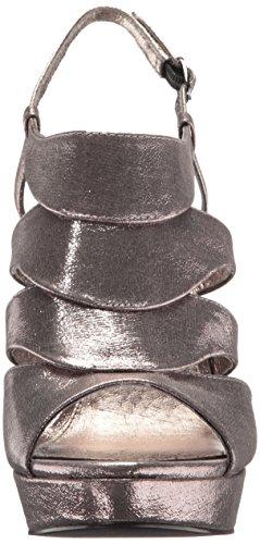 Papell metallic Sandal gunmetal Marlene Women's sterling Adrianna Heeled zwFBBx