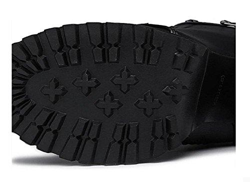 moda Martin alla stivali 39 caviglia Stivali fibbia donna alta stivaletti tacco alto 36 Piattaforma w5ZHPq1x