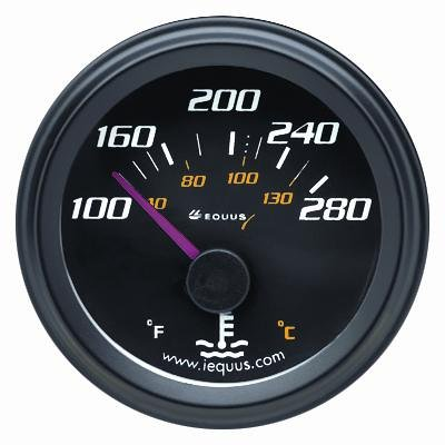 Equus 6262 Water Temperature Gauge - Black (Electric Temperature Gauge compare prices)