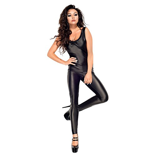 Pole Half (Sexy Patent Leather Imitation Leather Sexy Underwear Strap Back Strap Leather Long Skirts Pole Dance Nightclubs Bodysuit)
