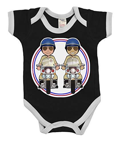 vipwees Babies Unisex Boys Girls Highway Patrol Men Caricature Babygrow