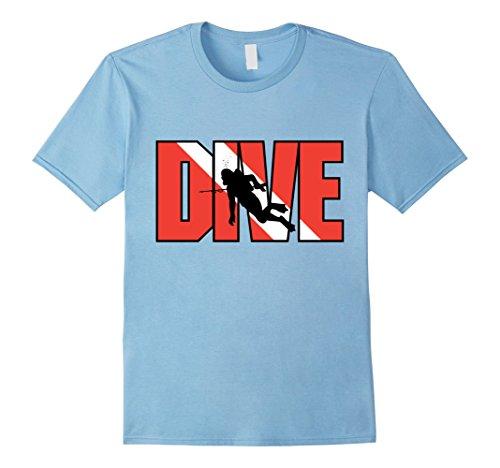[Men's Cool Scuba Diving T-Shirt Scuba Diver Gifts XL Baby Blue] (Scuba Diver Costumes)