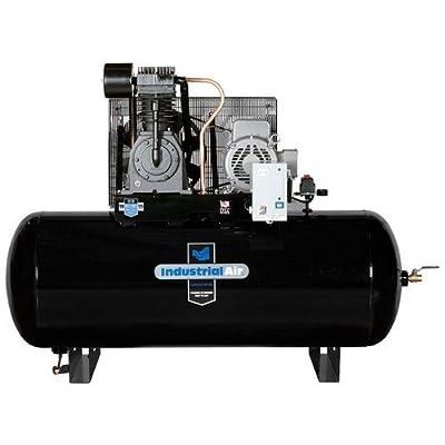Industrial Air IH7519975 230V 7.5 HP 120 Gallon Single Phase Oil-Lube Horizontal Air Compressor