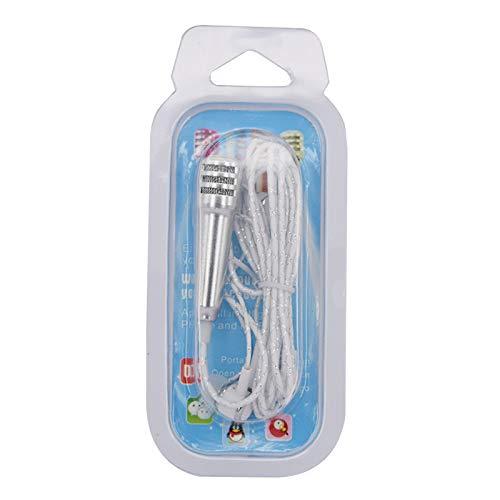 WaiiMak Clearance! Compatible Phone Computer Mini PhoneMic Mini Karaoke Condenser Microphone with Earphone (Silver)