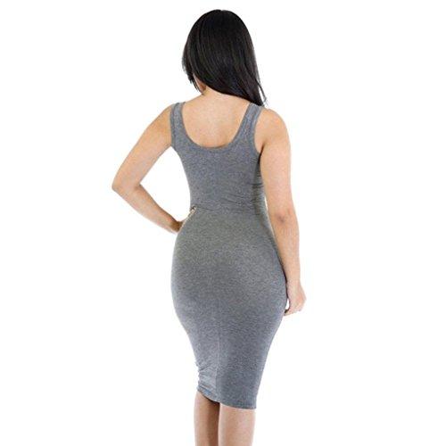 Bekleidung Longra Damen Sommer Kleider reizvolles Sommer beiläufiges ...