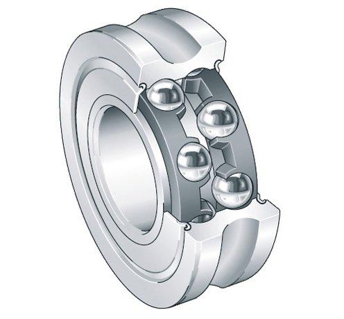 (INA (Schaeffler) LFR5207-30-2Z - U-Groove Yoke Roller - 80 mm Roller Dia, 27 mm Width, 30 mm Bore Dia, Gap Seals both)