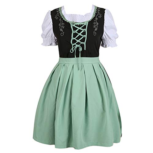 Jocund Fashion Anime Featuring Maid Costume Cute Cosplay Role Playing Dress Beer Festival Halloween Green ()