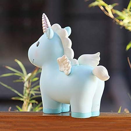17 9 cm Rose MYKK Tirelire Dessin anim/é Animal Licorne Tirelire R/ésine Tirelire pour Creative Grande Tirelire Cadeaux 19